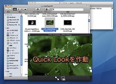 Mac Quick Lookウインドウパネルを最前面に固定表示する裏技 Inforati 1