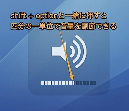 Macの音量を通常より細かく微調整する隠れ技 Inforati 1