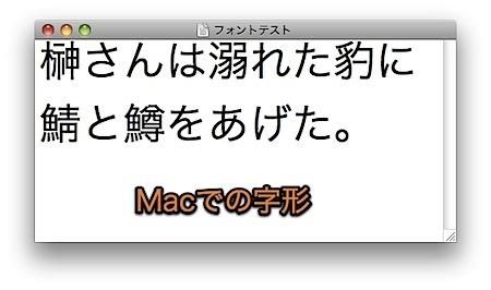 漢字の字形がWindowsとMacで異なる場合の対処方法 Inforati 2