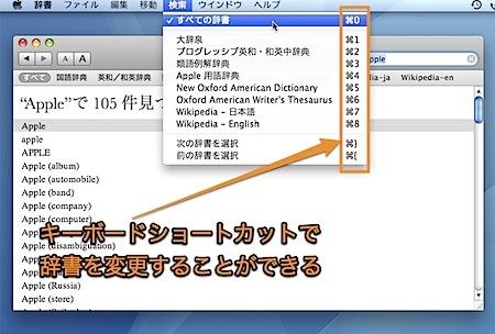 Macの辞書.appをキーボードショートカットで操作する方法 Inforati 1