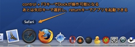 Mac Dockをキーボードで操作する方法 Inforati 2