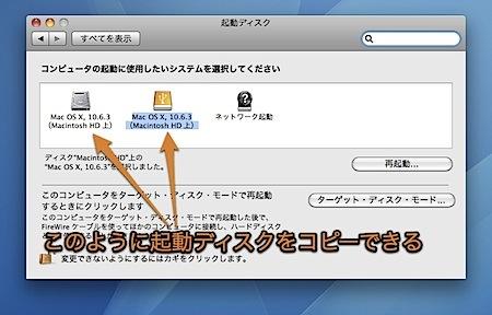 Macのシステム全体を外付けHDにコピーしてそこから起動する方法 Inforati 3