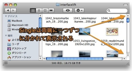 Macでウィンドウのスクロールバーの矢印の位置を変更する裏技 Inforati 5