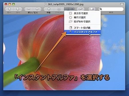 Macのプレビュー.appで写真から似た色の部分のみ選択する方法 Inforati 5