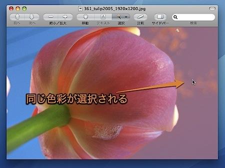 Macのプレビュー.appで写真から似た色の部分のみ選択する方法 Inforati 6