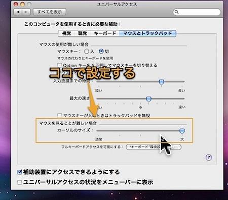 Macのマウスカーソルのサイズを大きく拡大する方法 Inforati 1