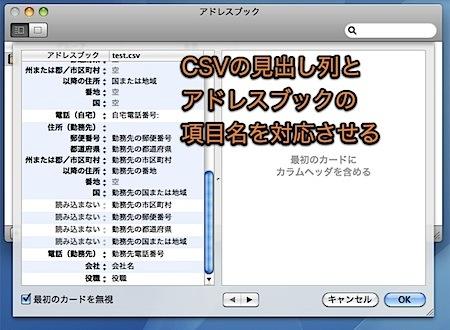 Macのアドレスブックに、TSVやCSVを使用して大量のアドレスデータを入力する方法 Inforati 6