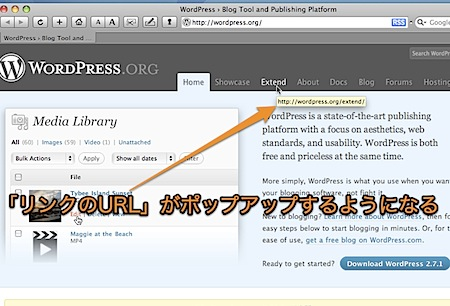 Mac Safariでリンク先のURLをツールチップでポップアップ表示させる裏技 Inforati 2