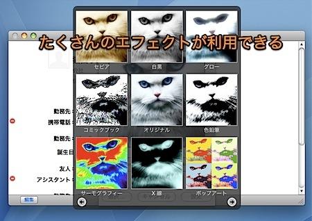 Macのアドレスブック.appの写真アイコンを設定する方法 Inforati 2