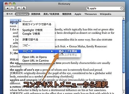 Macの辞書.appに英単語を読み上げさせて、英語の発音を確認する方法 Inforati 1