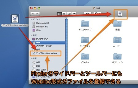 Mac SafariでWebサイトのエイリアス「Webloc」ファイルを使用する方法 Inforati 3