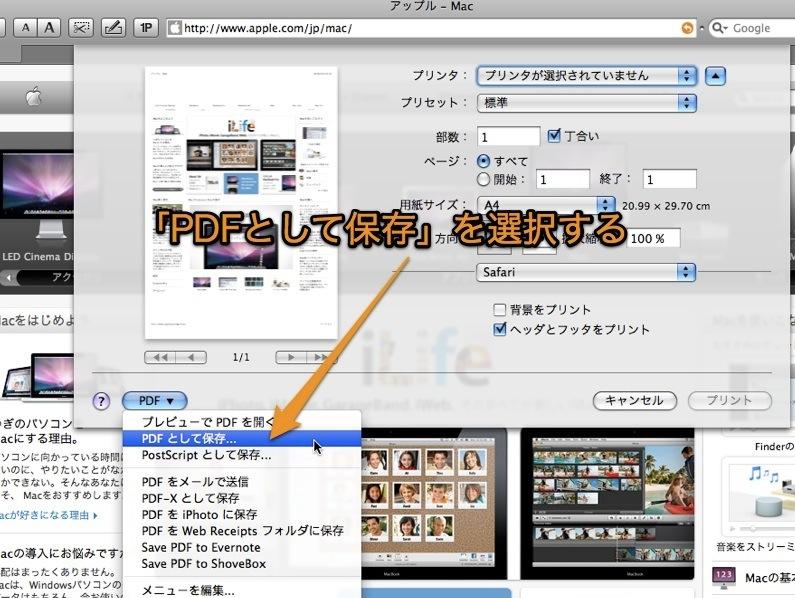 mac safari catalina pdf 保存